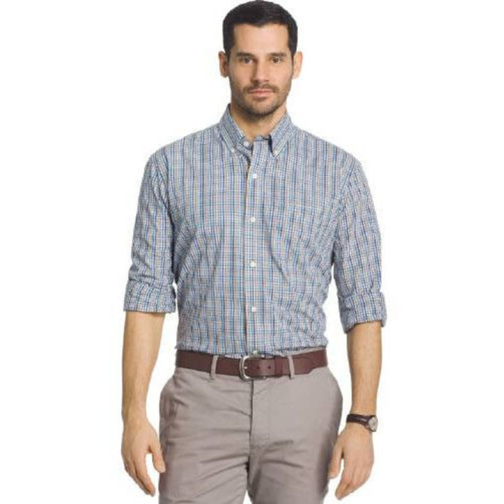 ARROW Men's Hamilton Plaid Woven Long-Sleeve Shirt - BLUE PICTUM-493