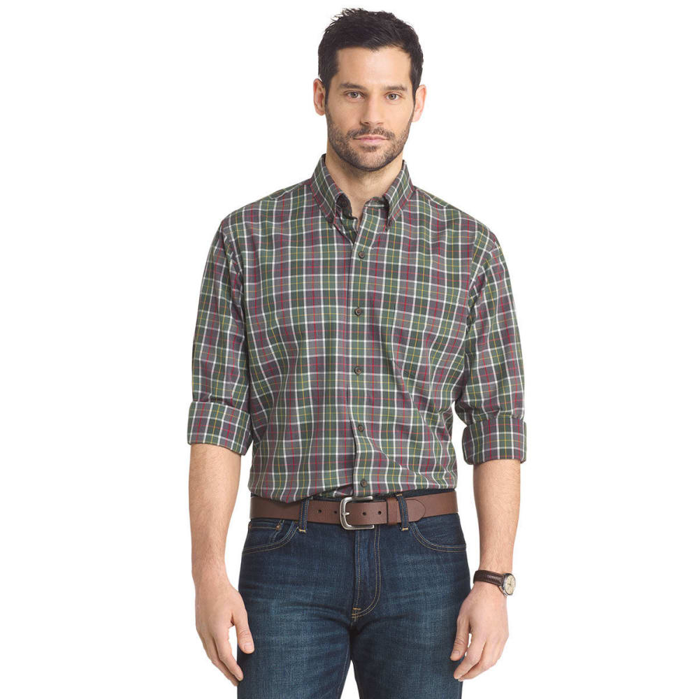 ARROW Men's Plaid Button Down Woven Shirt - GRN CILANTRO-359