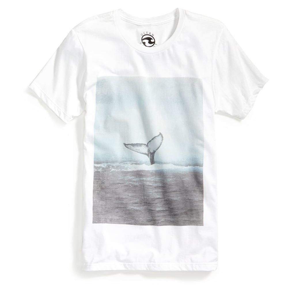 OCEAN CURRENT Guys' Splash Whale Tail - WHITE