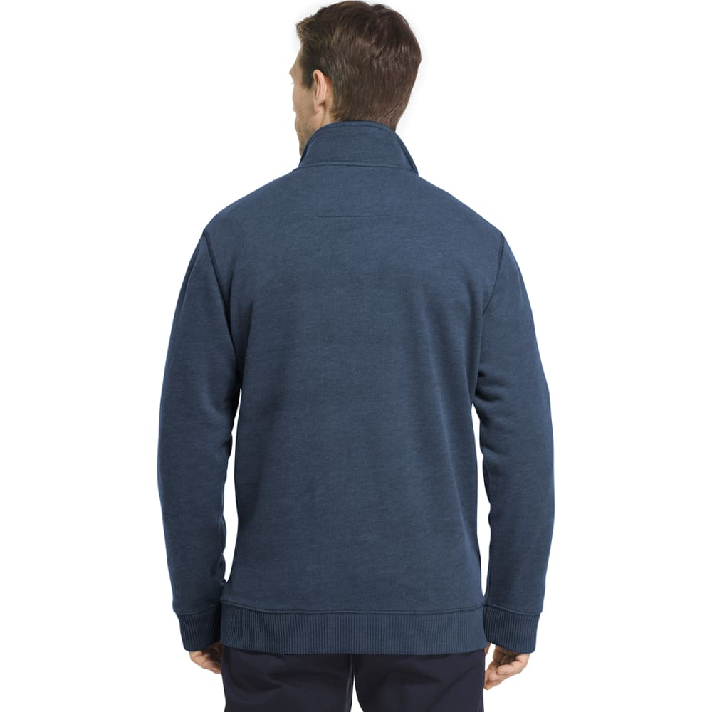 ARROW Men's Sueded ¼-Zip Fleece Long-Sleeve Pullover - TOTAL ECLIPSE-416