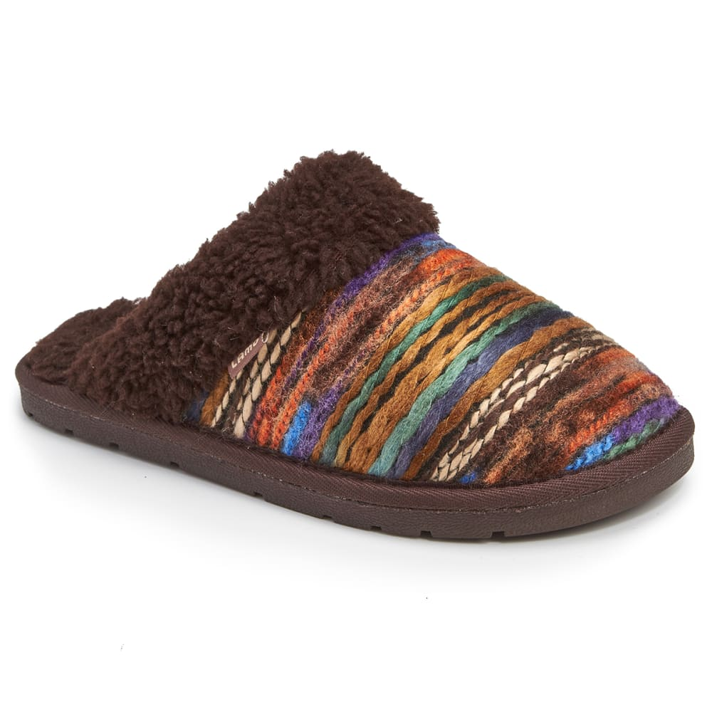 LAMO Women's Cora Knit Slippers, Chocolate - CHOCOLATE