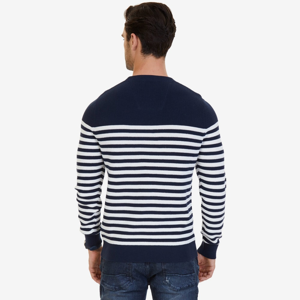 NAUTICA Men's Breton Stripe Sweater - MARSHMELLOW-1MA