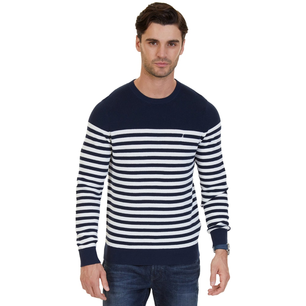 Nautica Men's Breton Stripe Sweater - White, L