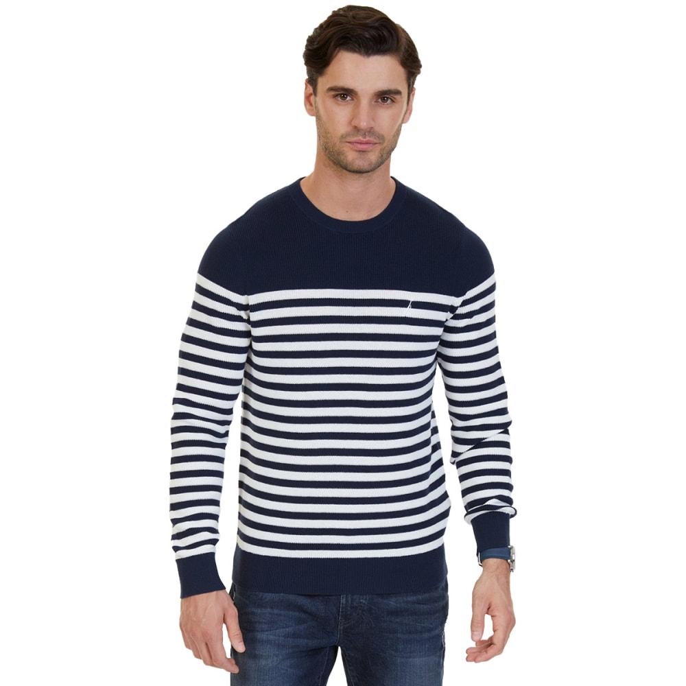 NAUTICA Men's Breton Stripe Sweater - MARSHMELLOW-1MA