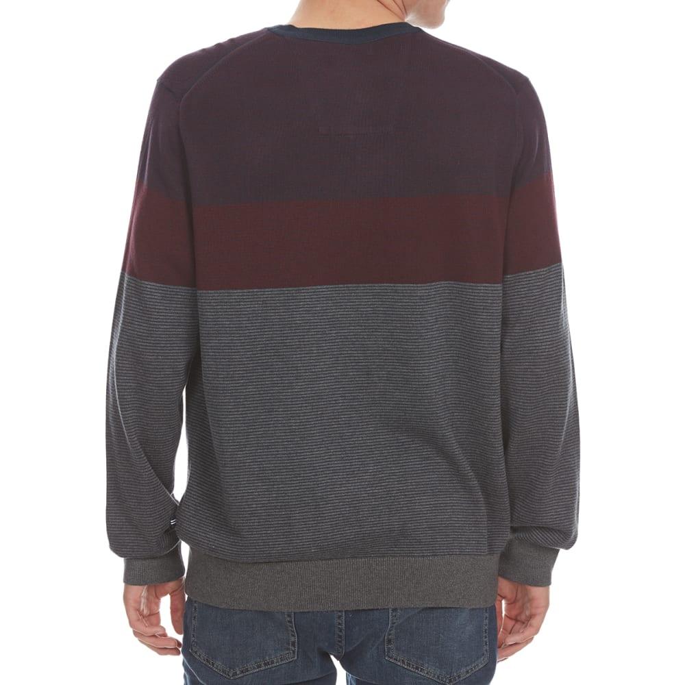 NAUTICA Men's Fine Stripe Tri-Color Crew Sweater - ROYAL BLUE-6GBN