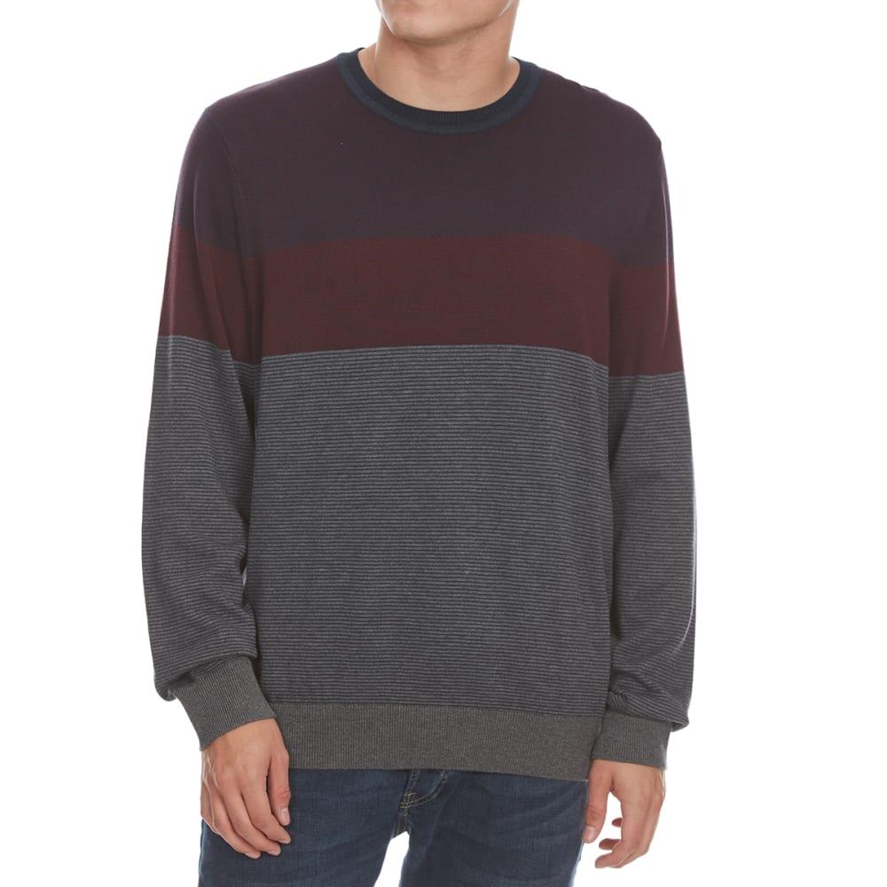 Nautica Men's Fine Stripe Tri-Color Crew Sweater - Blue, M