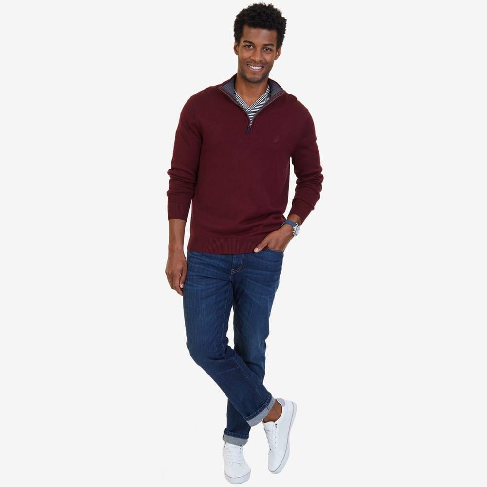 NAUTICA Men's Quarter-Zip Pullover - ROYAL BURG-6GB