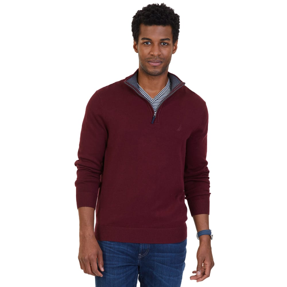NAUTICA Men's Quarter-Zip Pullover - ROYAL BURG-6GB