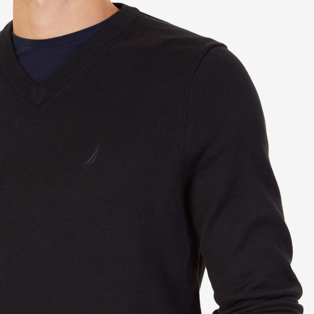 NAUTICA Men's V-Neck Sweater - BLACK-OTB