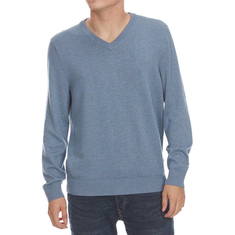 Nautica Men's V-Neck Sweater - Black, M