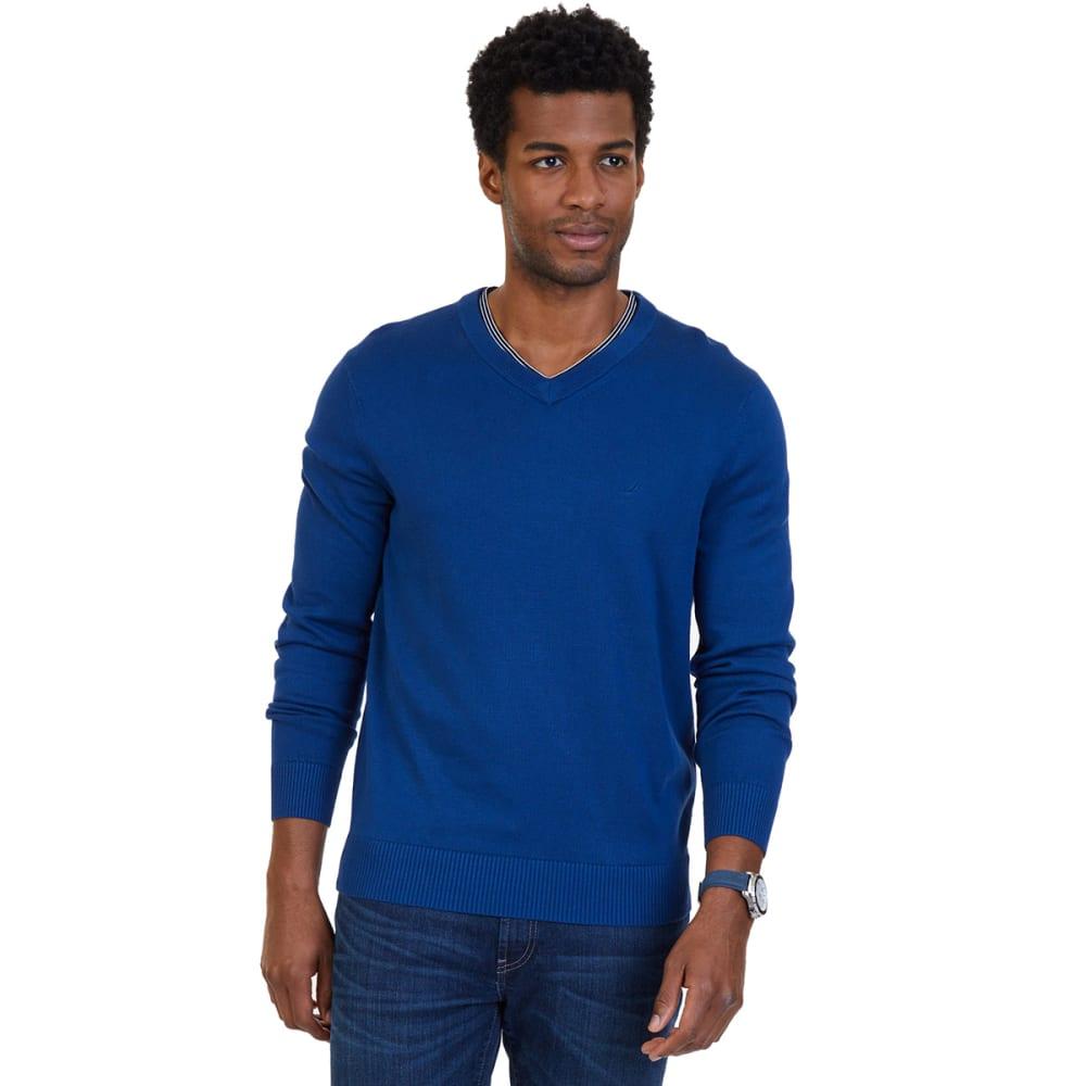 NAUTICA Men's V-Neck Sweater - ESTATE BLUE-4ES