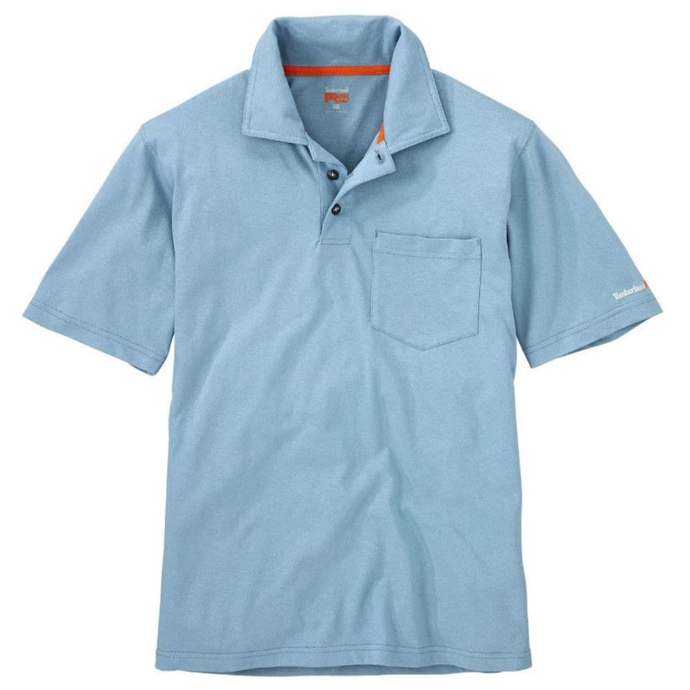 TIMBERLAND PRO Men's Base Plate Pocket Short-Sleeve Polo Shirt - 423 FADED DENIM