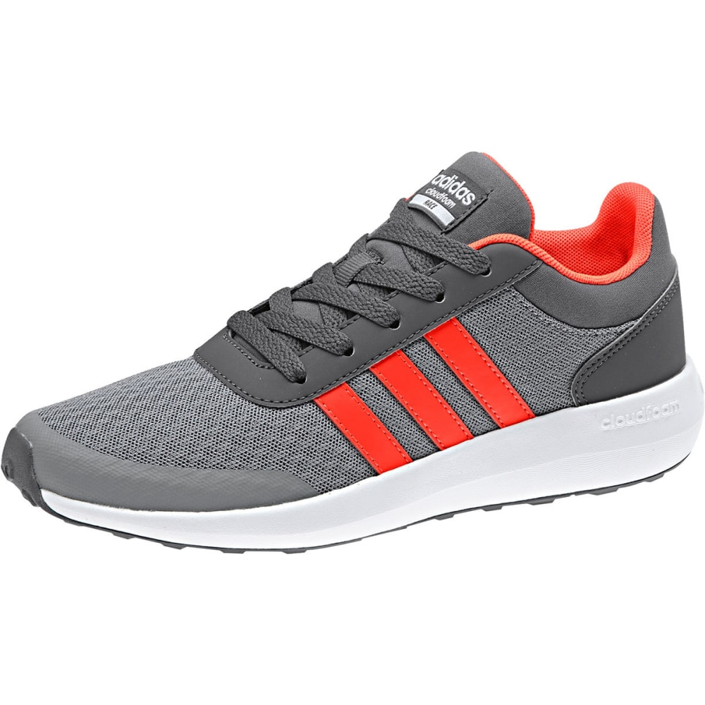 Adidas Boys Cloudfoam Race Running Shoes, Gray/solar Red