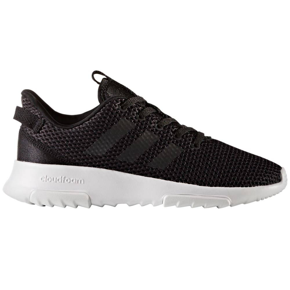 ADIDAS Boys' Neo Cloudfoam Racer TR Running Shoes, Black/White - BLACK