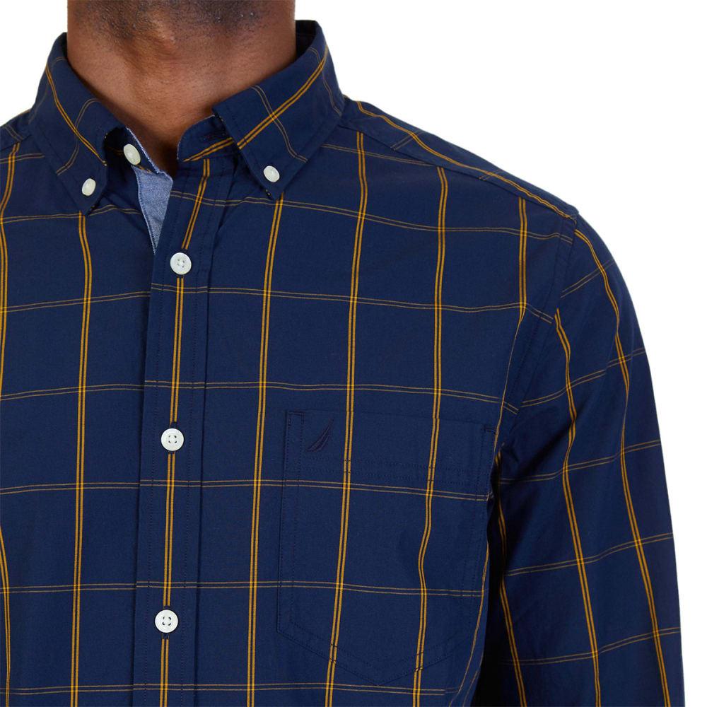 NAUTICA Men's Classic Fit Windowpane Poplin Shirt - MARITIME NVY-4MN