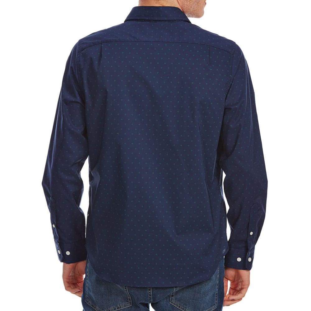 NAUTICA Men's Stretch Poplin Long-Sleeve Shirt - MARITIME NVY-4MN