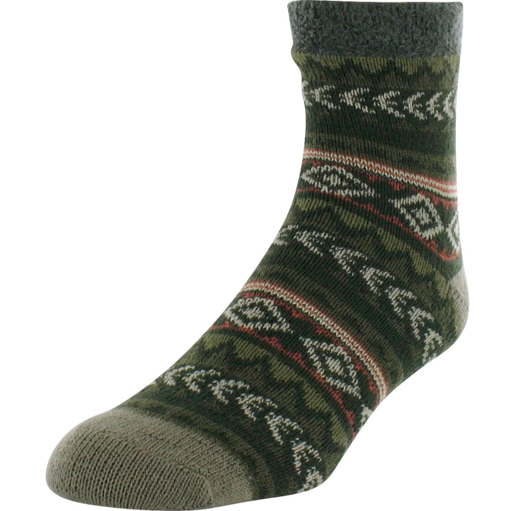 SOF SOLE Men's Fireside Tribal Nordic Print Socks - TAUPE