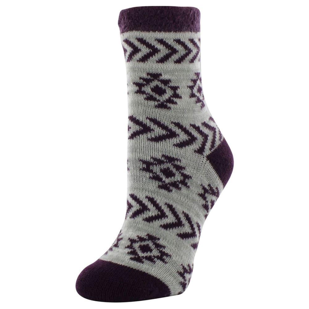 SOF SOLE Women's Fireside Aztec Printed Socks - PURPLE/GREY