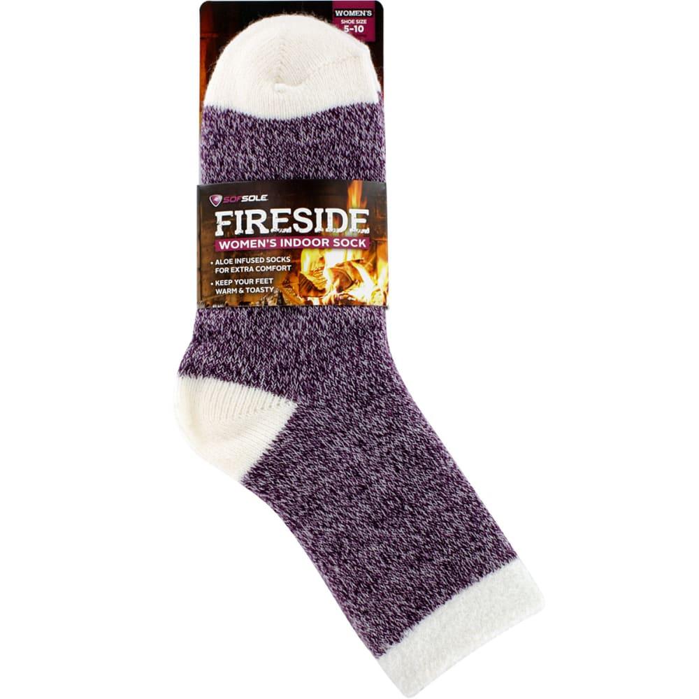 SOF SOLE Women's Fireside Marled Socks - PURPLE