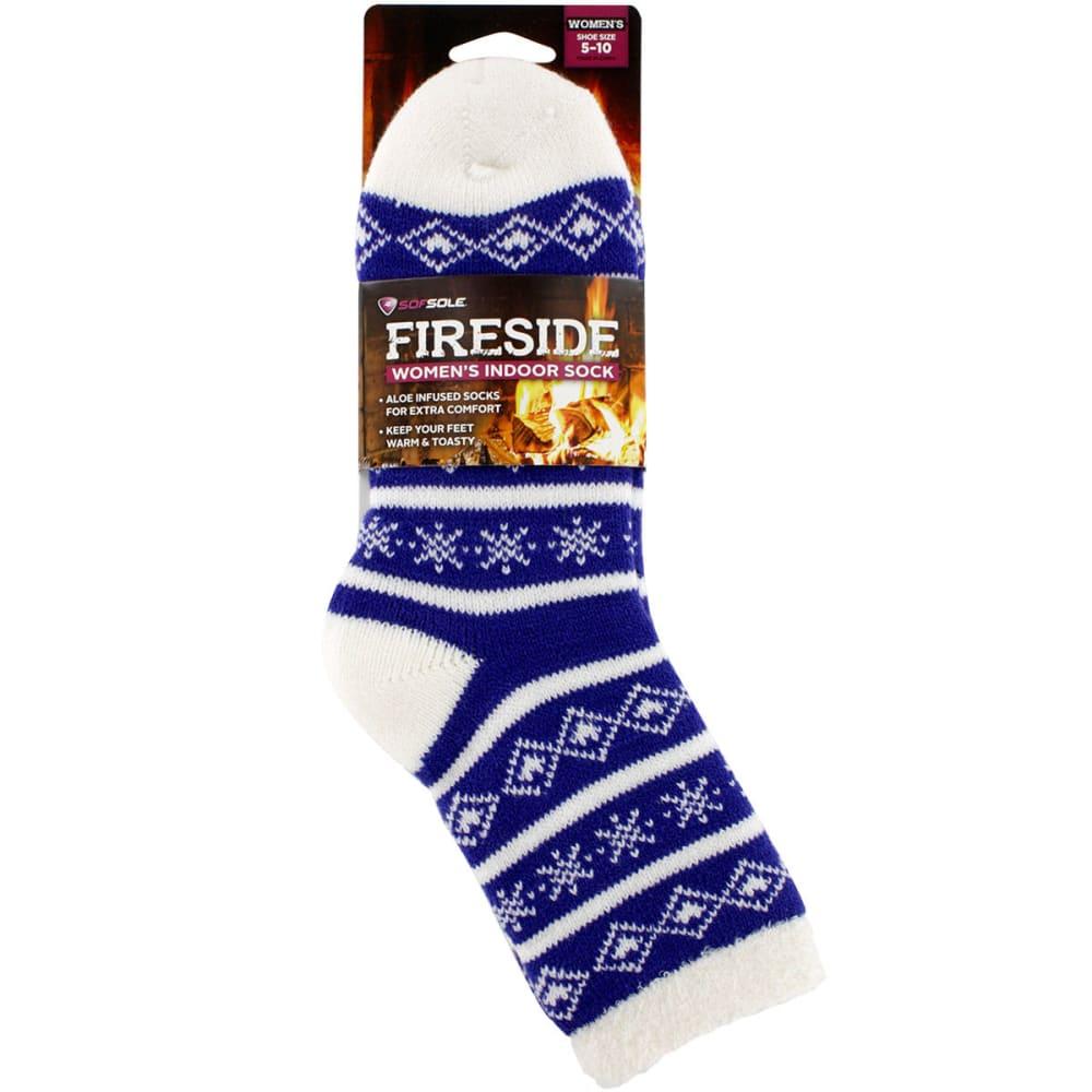 SOF SOLE Women's Fireside Print Socks - PURPLE