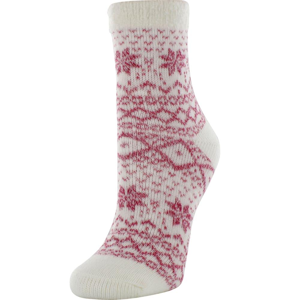 SOF SOLE Women's Fireside Pattern Socks - PINK/WHT