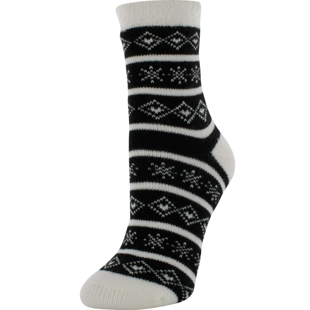 SOF SOLE Women's Fireside Print Socks - BLACK/WHITE