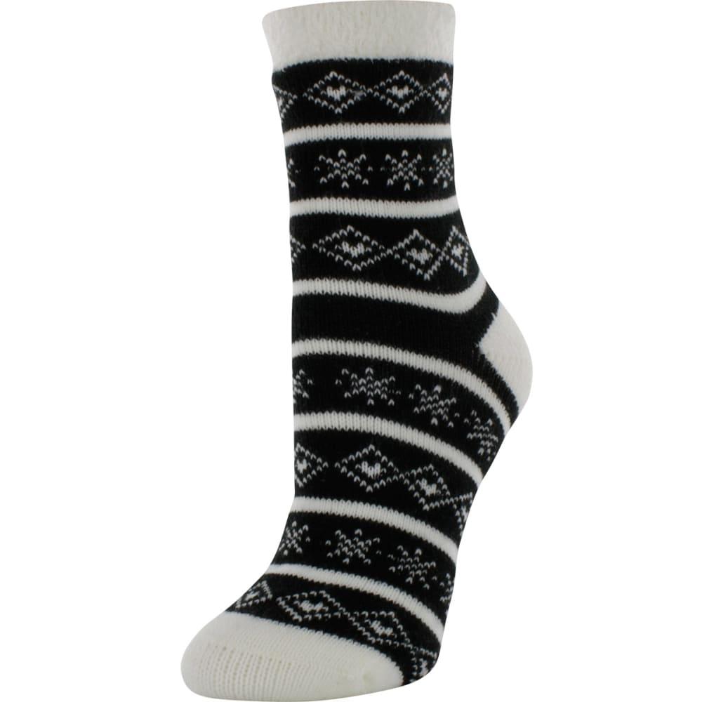 SOF SOLE Women's Fireside Print Socks - BLACK/WHITE