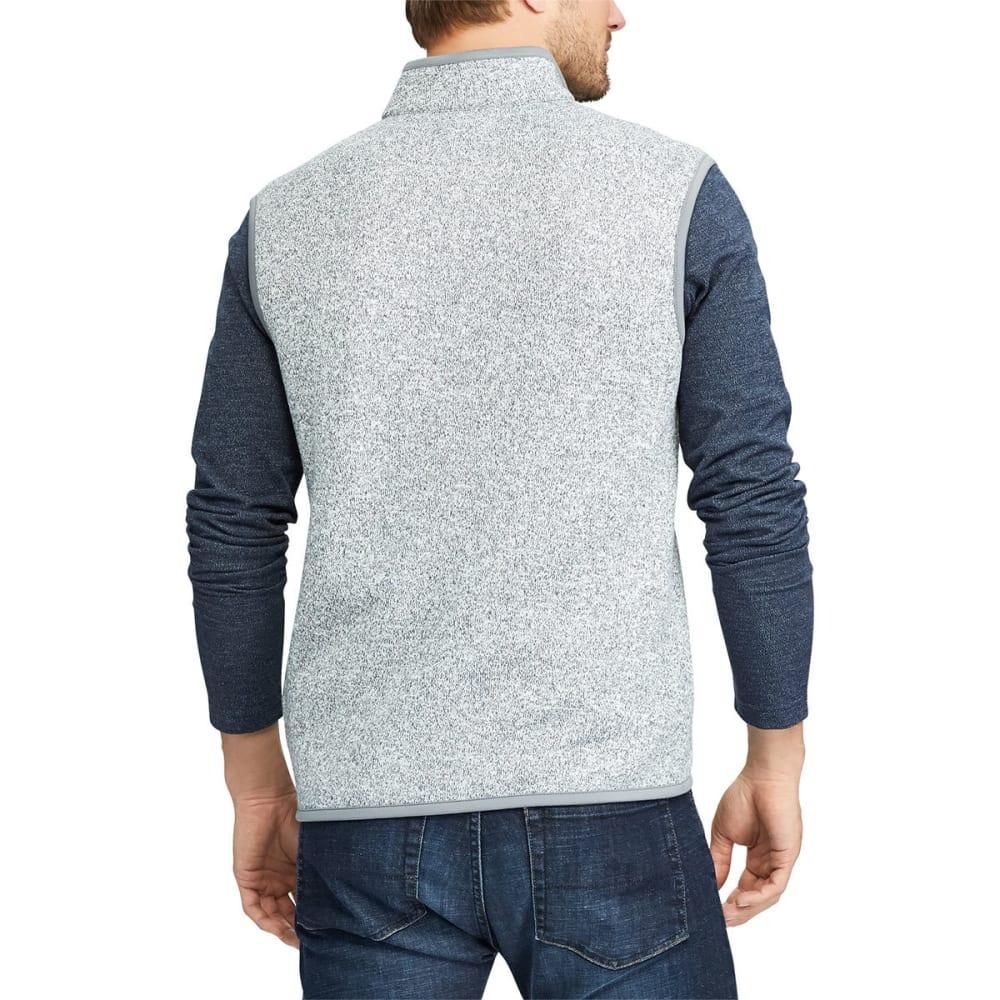 CHAPS Men's Fleece Full-Zip Vest - LT GRY HTR-001