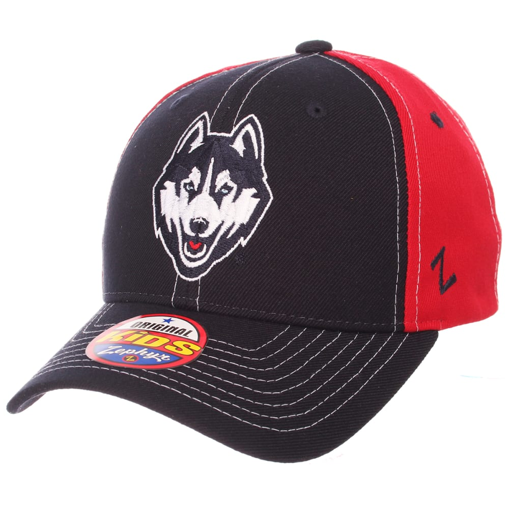 UCONN Big Kids' Staple ZWool Snapback Cap - NAVY/RED