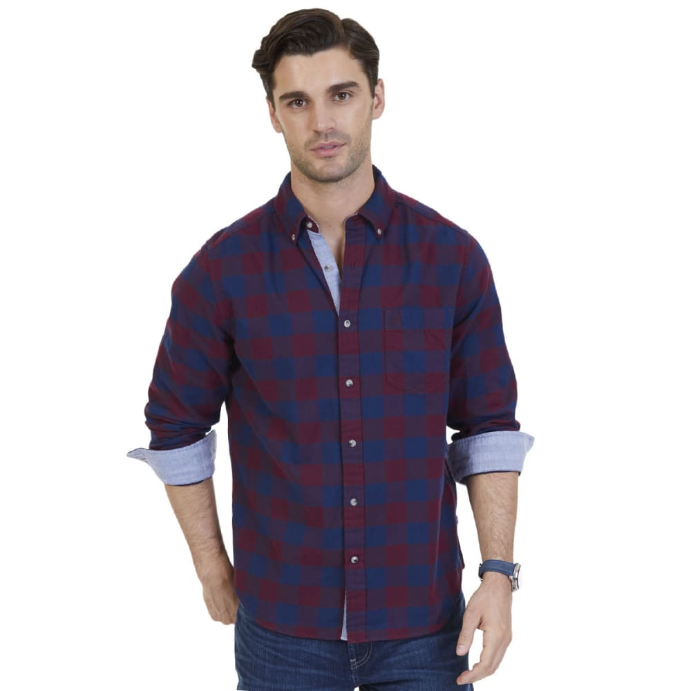 NAUTICA Men's Classic Fit Buffalo Plaid Flannel Shirt - ROY BURG-6GB
