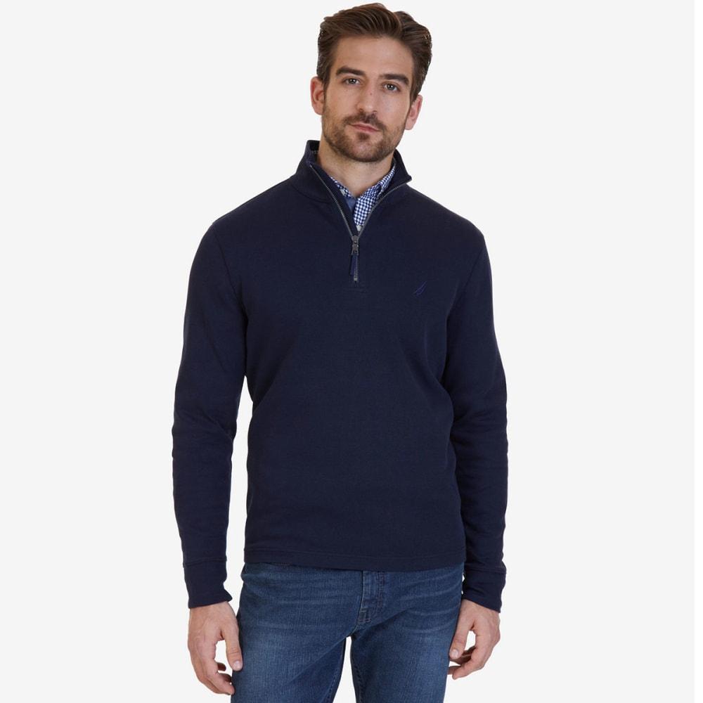 NAUTICA Men's 1/4 Zip Pullover - TRUE NAVY-4TN
