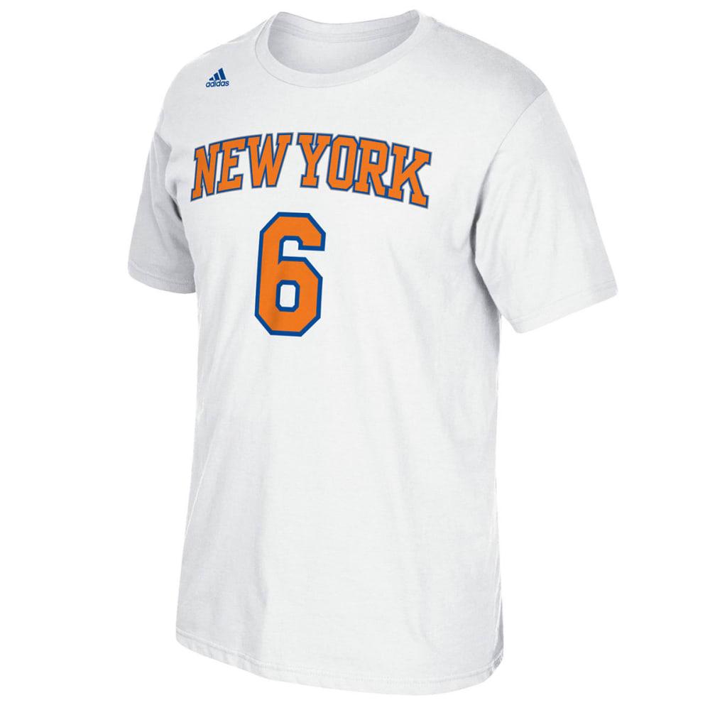 NEW YORK KNICKS Men's Porzingis #6 Name and Number Short-Sleeve Tee - WHITE