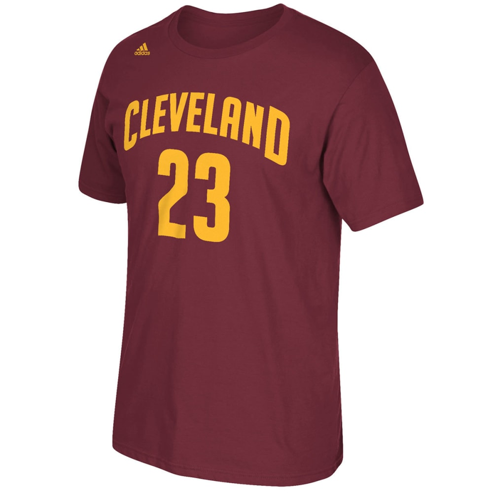 CLEVELAND CAVALIERS Men's LeBron James #23 Name and Number Short-Sleeve Tee - WINE/MAROON