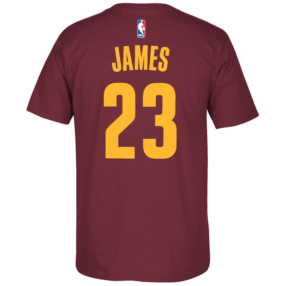 Cleveland Cavaliers Men's Lebron James #23 Name And Number Short-Sleeve Tee - Red, XL
