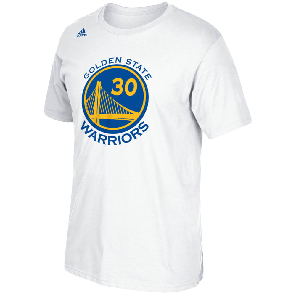 GOLDEN STATE WARRIORS Men's Stephen Curry #30 Name and Number Short-Sleeve Tee - WHITE