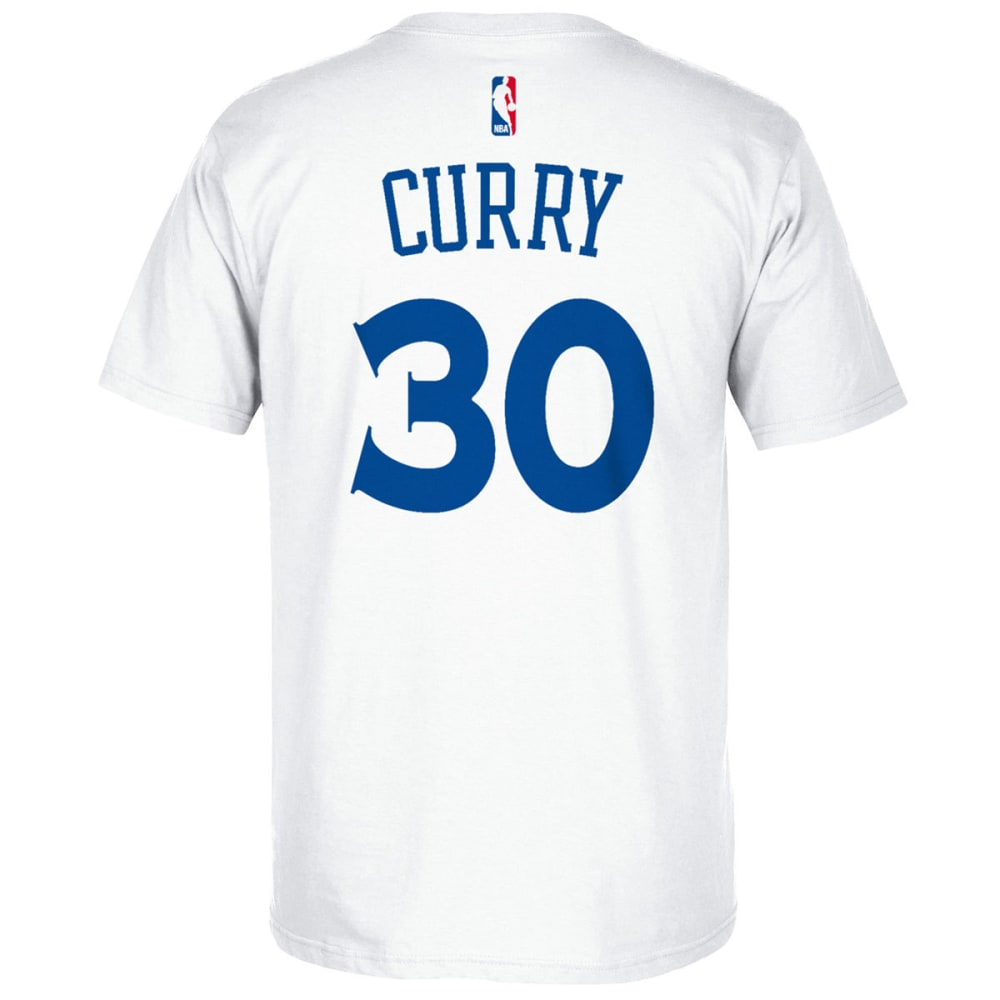 Golden State Warriors Men's Stephen Curry #30 Name And Number Short-Sleeve Tee - White, XL