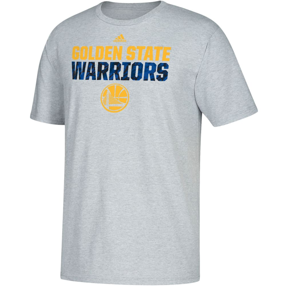 GOLDEN STATE WARRIORS Men's Heather Short-Sleeve Tee - GREY