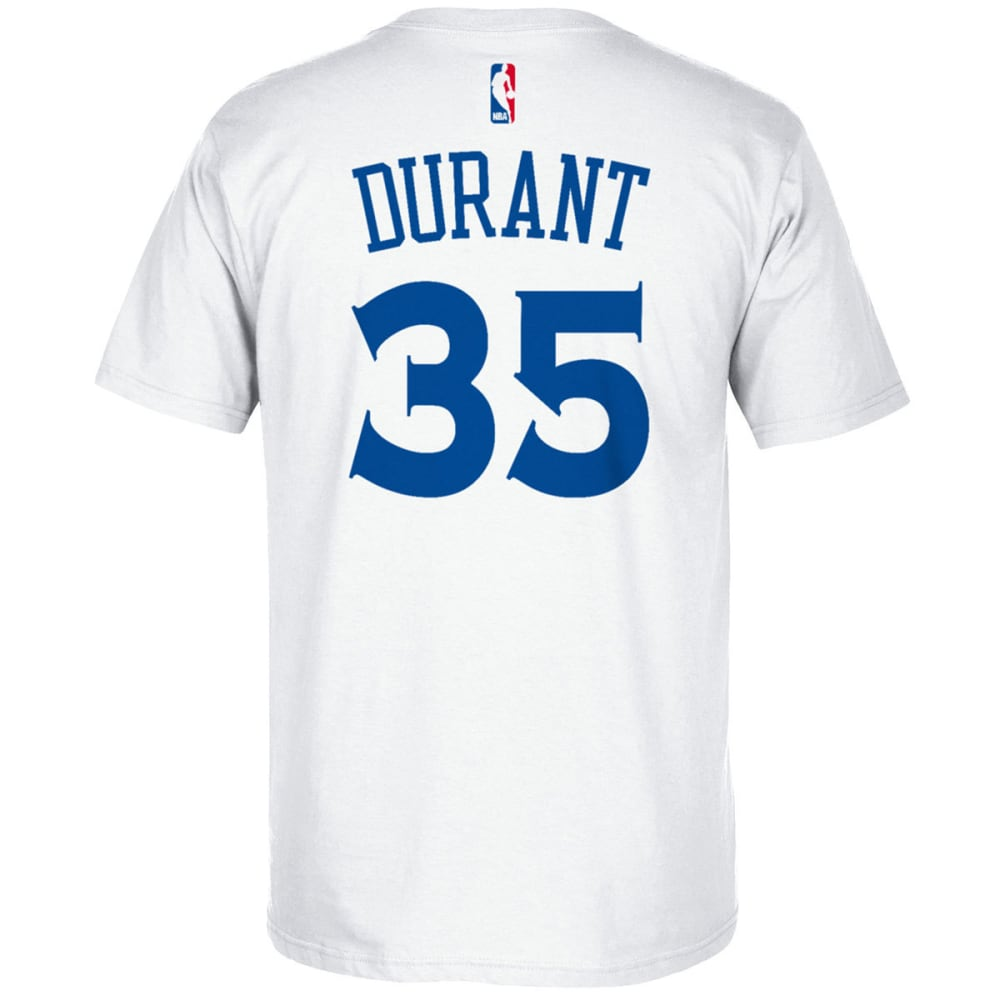 Golden State Warriors Men's Kevin Durant #35 Name And Number Short-Sleeve Tee - White, XL
