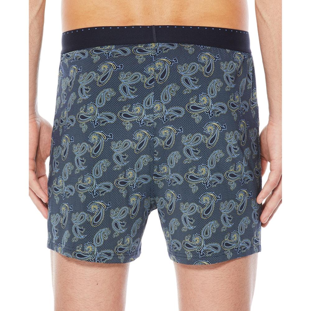 PERRY ELLIS Men's Luxe Paisley Dot Boxer Shorts - NAVY/YELLOW 942