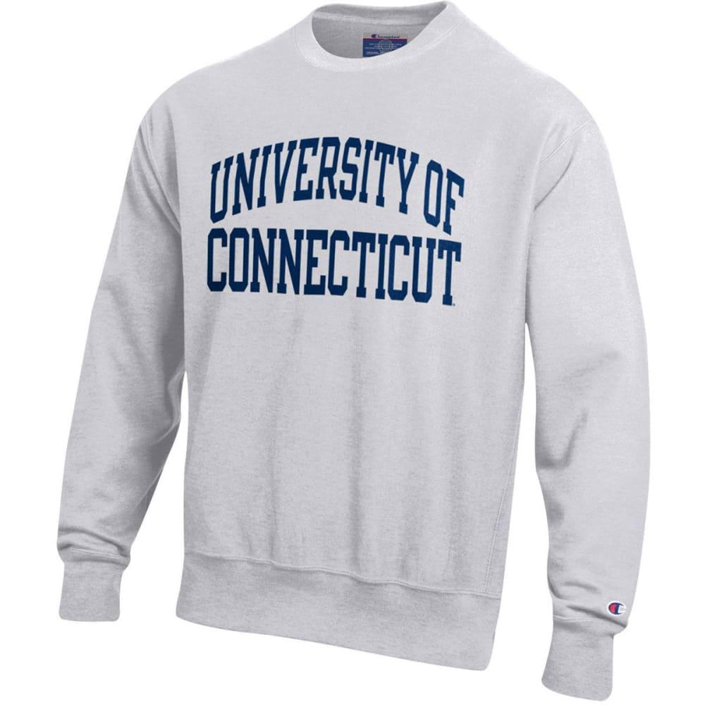 Champion Men's U Conn Reverse Weave Crew Sweatshirt by Champion Men's U Conn Reverse Weave Crew Sweatshirt