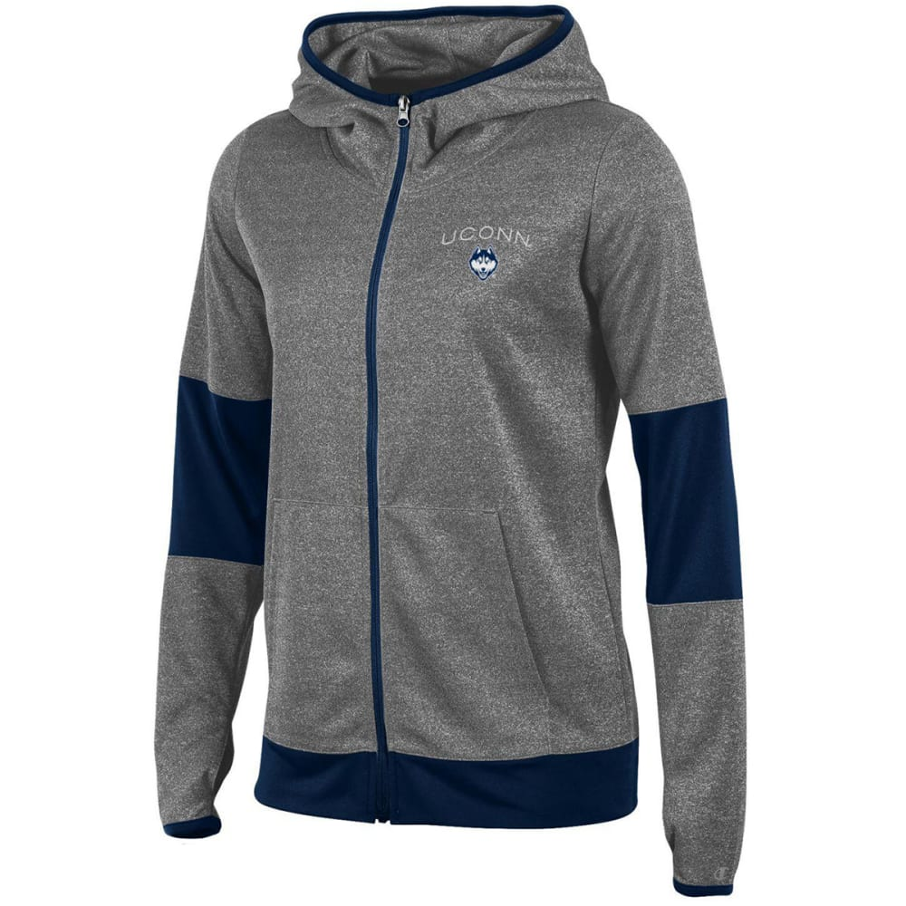 CHAMPION Women's UConn Poly Full-Zip Hoodie - NAVY