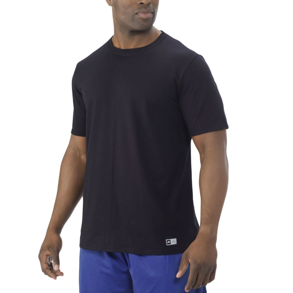 RUSSELL Men's Essential Short-Sleeve Tee - BLACK-BLK