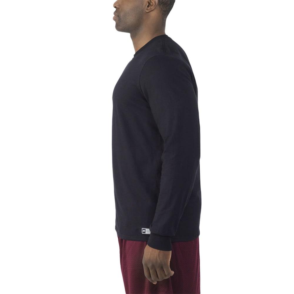 RUSSELL Men's Essential Long-Sleeve Tee - BLACK-BLK