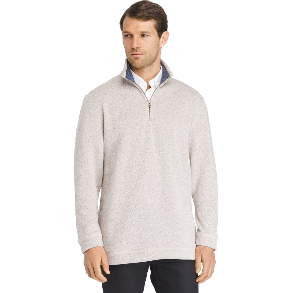 VAN HEUSEN Men's Quarter-Zip Fleece Sweater - SILVER BIRCH-270