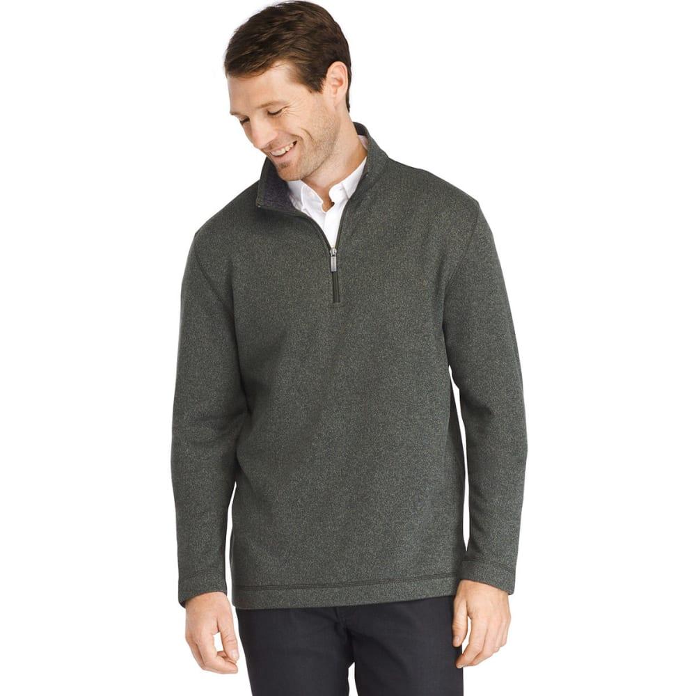 VAN HEUSEN Men's Quarter-Zip Fleece Sweater - ROSIN-368