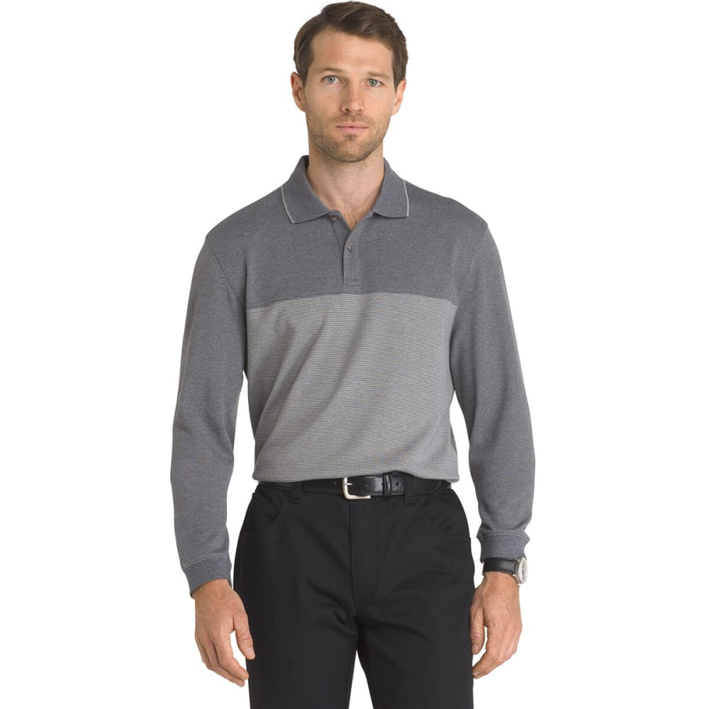VAN HEUSEN Men's Jaspe Long-Sleeve Polo Shirt M