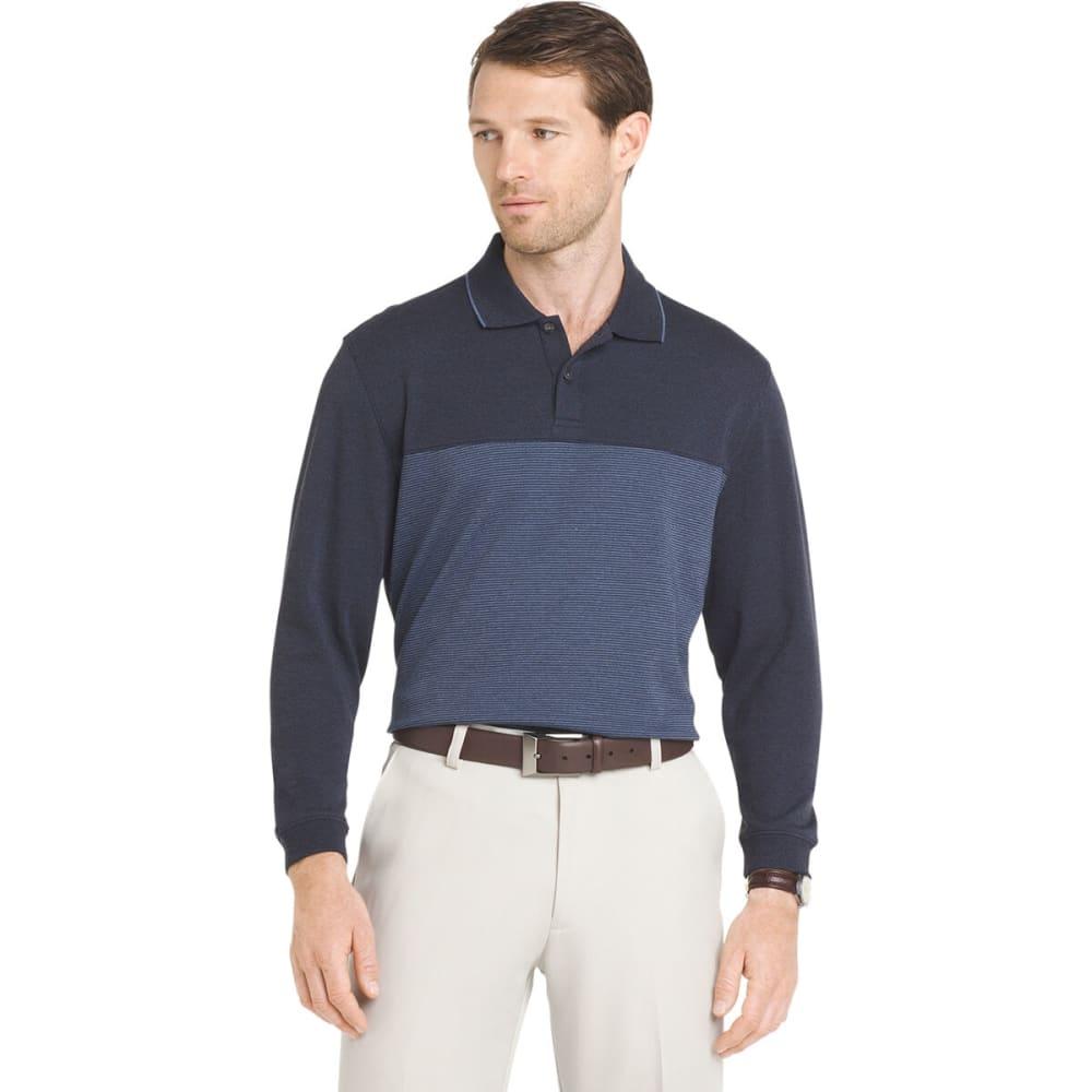 VAN HEUSEN Men's Jaspe Long-Sleeve Polo Shirt M