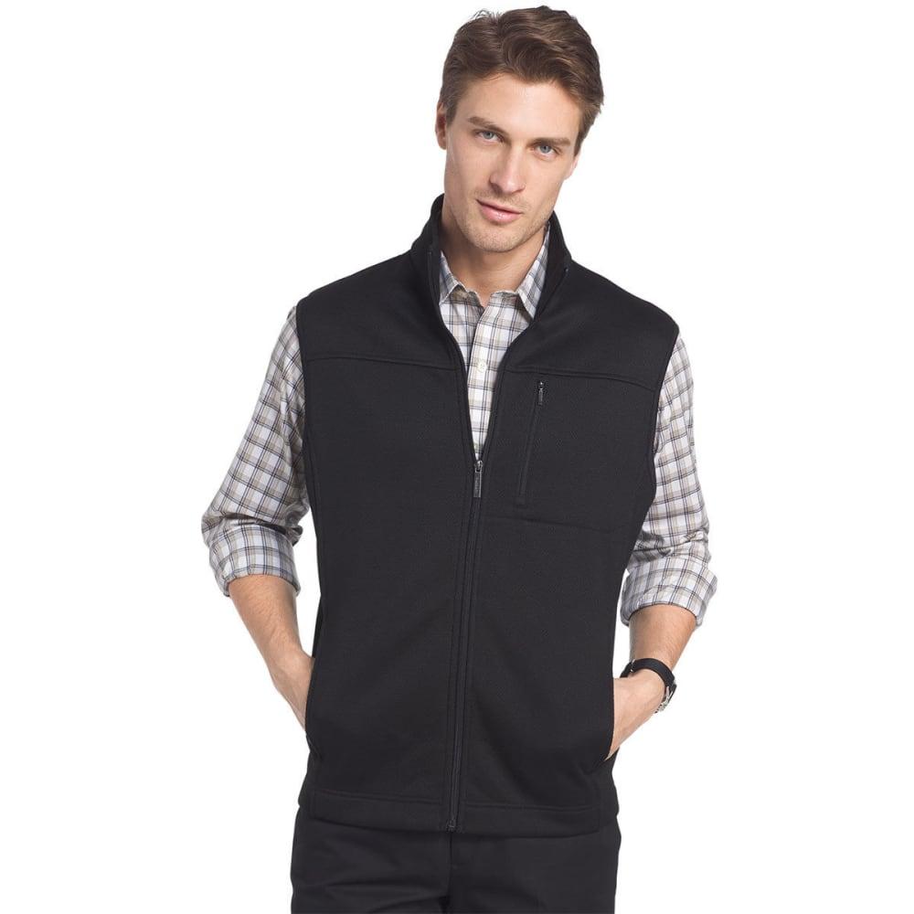 VAN HEUSEN Men's Traveler Honeycomb Full-Zip Vest - BLACK-001