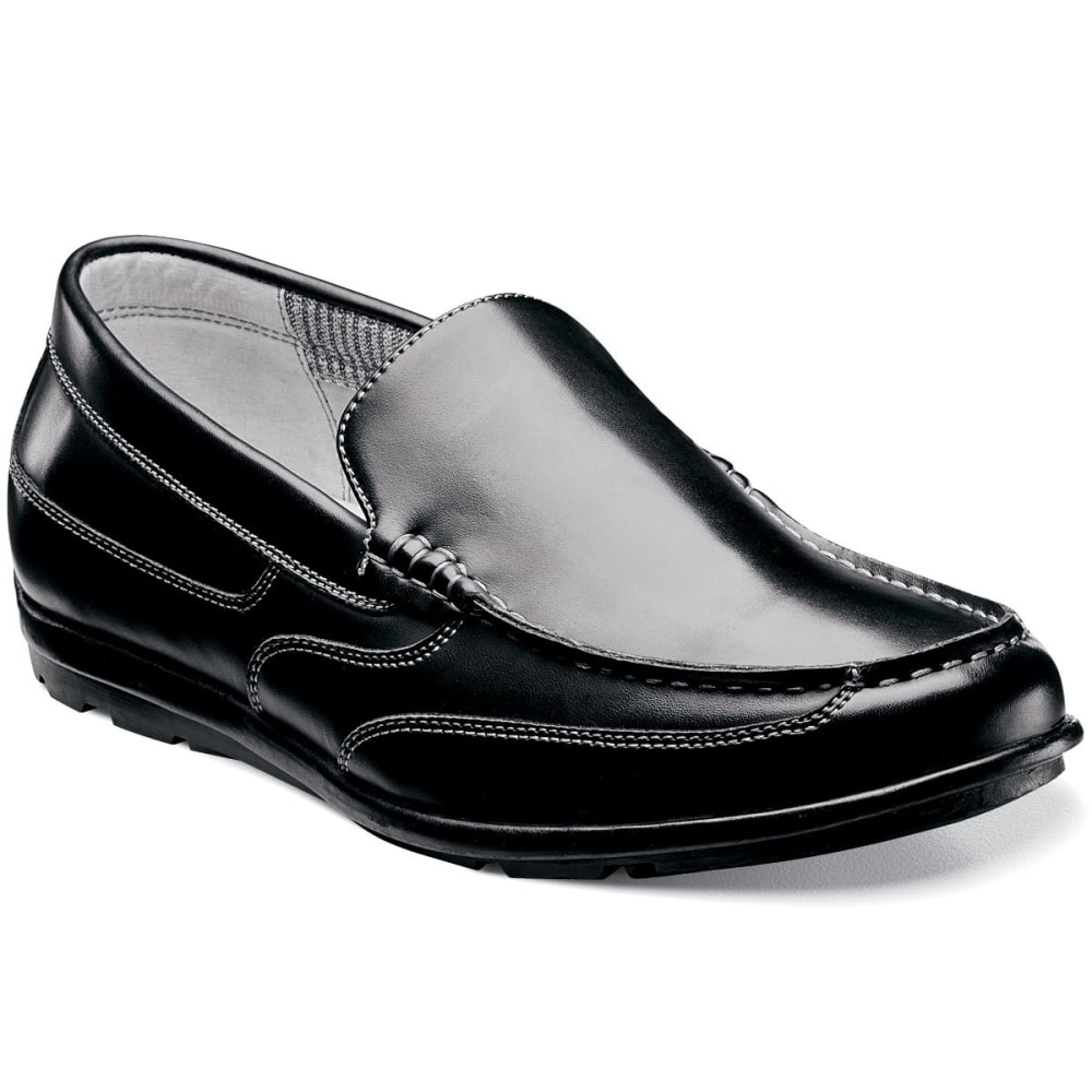 NUNN BUSH Men's Cale Slip-On Dress Shoes, Black - BLACK