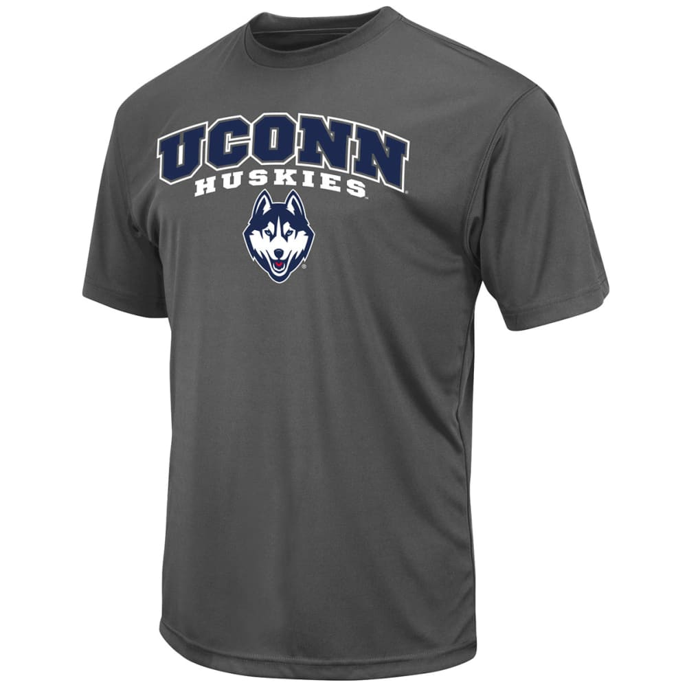 UCONN Men's Heather Poly Short-Sleeve Tee - HEATHER CHARCOAL